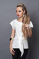 Блуза мод №496-5, размеры 46 белая