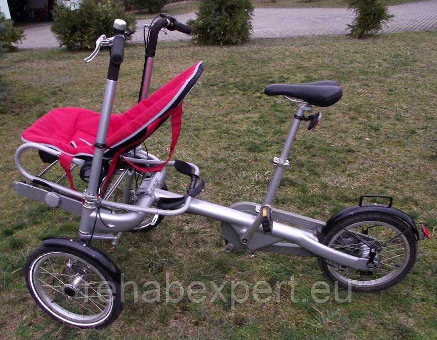 Рикша Алюминиевый Трехколесный велосипед для детей с ДЦП.