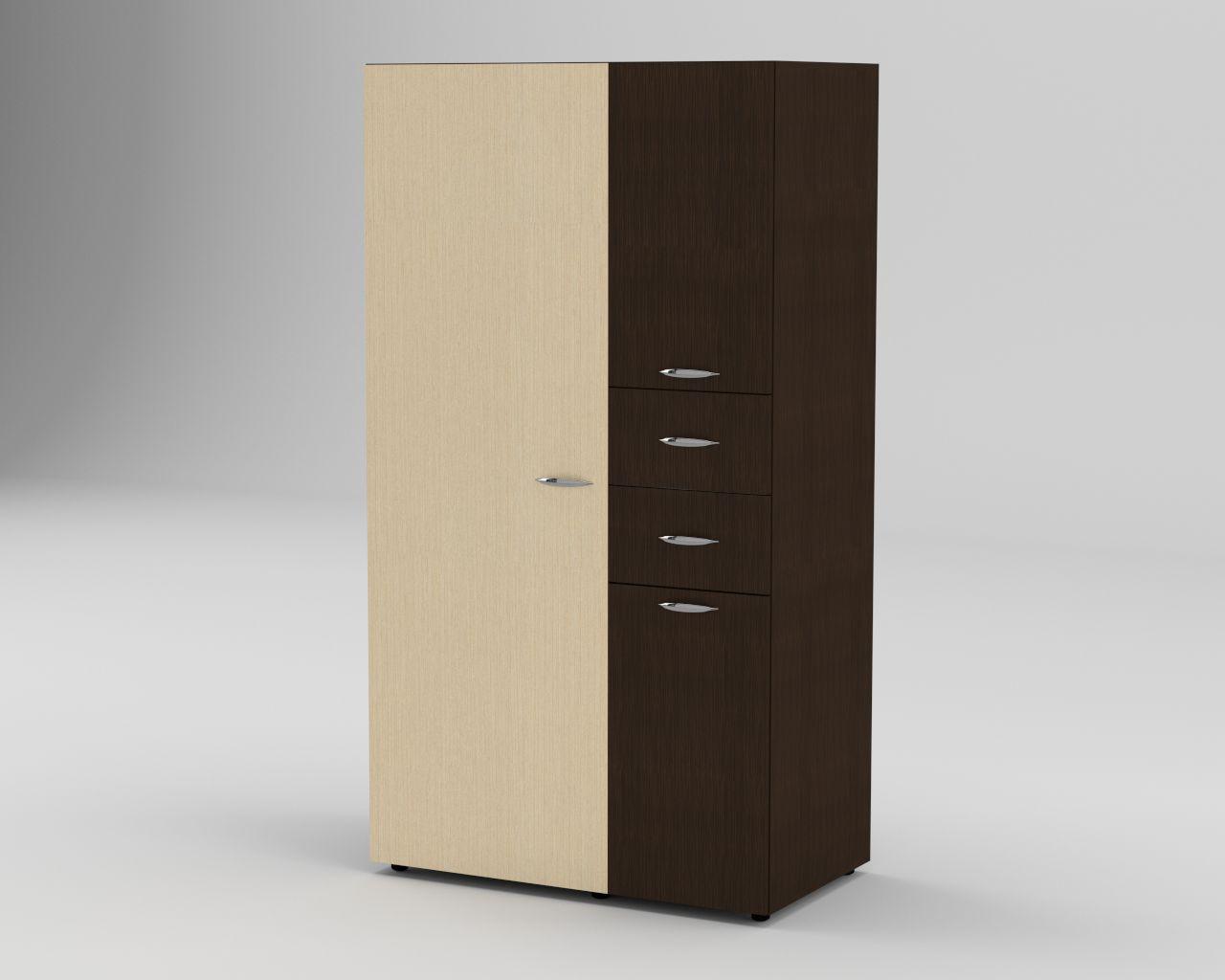 Шкаф распашной с выдвижными ящиками- 19