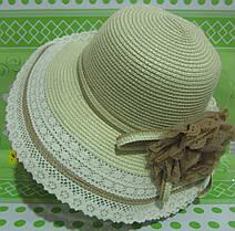 Женская шляпка лён, фото 2