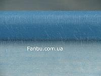 Органза с ворсом на метраж,цвет голубой (ширина 47-50см)