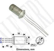 ГТ404Б транзистор германиевый  NPN (0.5А 25В) 0.6W