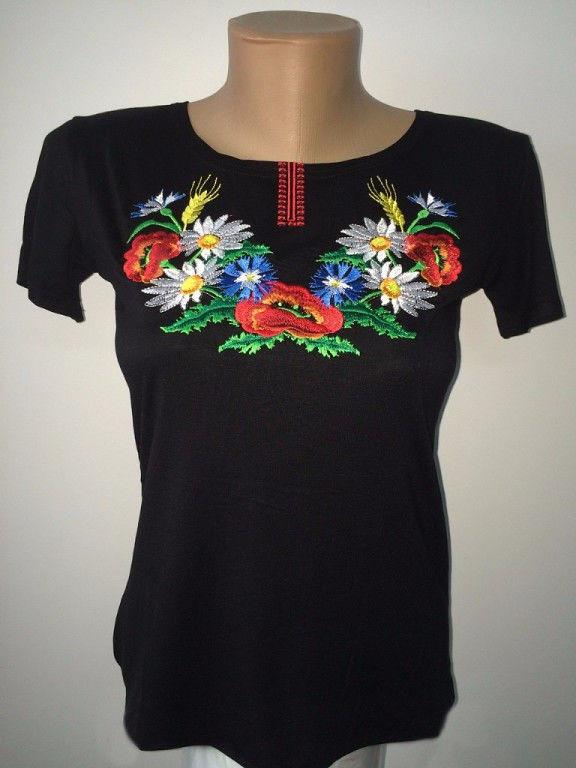 Модная женская футболка с украинской вышивкой - Купить платье 510e2bfe1d3b9