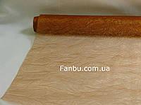 Органза жатая на метраж,цвет коричневый(ширина 60см)