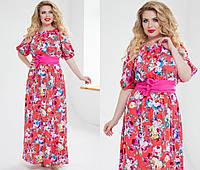 Т1018/2  Платье в пол  размеры 48-54 в расцветках