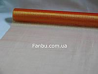 Органза обычная на метраж,цвет оранжевый(ширина 70см)