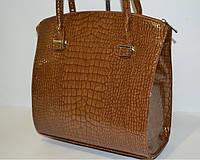 Женская сумка  Крокодил коричневый