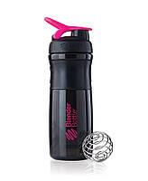 Cпортивный шейкер BlenderBottle SportMixer 820ml Черно-розовый
