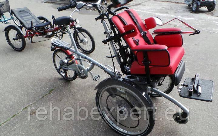 Тандем кресло-коляска с велосипедом O-Pair2 Electric Special Bike