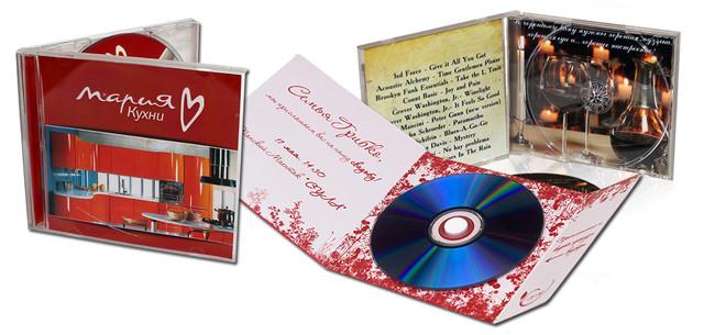 цифровая печать вкладышей в CD / DVD диски, цифровая печать на CD / DVD дисках