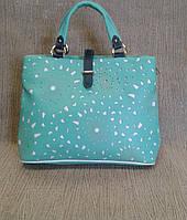 Женская сумка с перфорацией,вместительная (Турция)