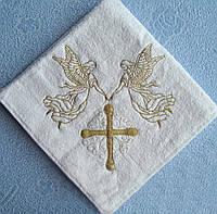 Крыжма. Полотенце, покрывало для крещения. Крижмо «Прекрасный ангел». Крещение ребенка