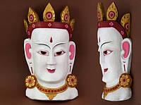 Этническая маска Тара 40 см белая