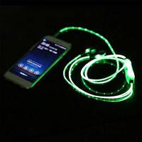 Светящиеся вакуумные наушники c микрофоном