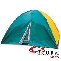 Палатка 3-х местная VERUS туристическая двухслойная размеры 2,0 * 2,0 * 1,35 м (SY-029)