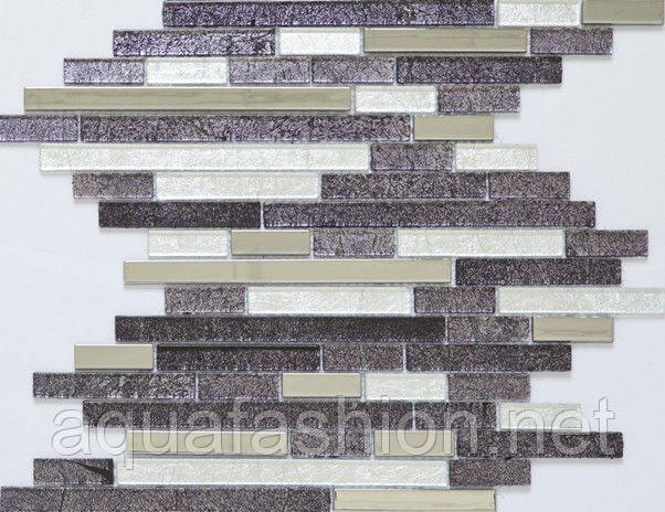 Мозаика стеклянная Vivacer L1124 фиолетовая
