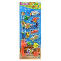 """Развивающая игра """"Рыбалка"""": удочка магнитная, 12 рыбок"""