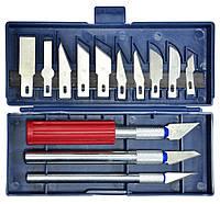 Набор ножей для резьбы по дереву 3 ножа + 13 лезвий, код 743-325
