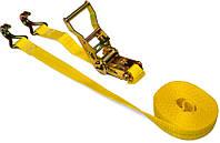 Багажная лента, 2 крюка, с трещоткой 1т/25мм х 4м, код 752-442