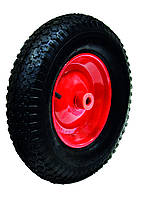 """Колесо с металлическим диском для тачки 14"""", ось 16х60 мм, код 770-421"""
