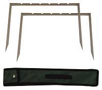 Мангал-рамка, на 6 шампуров в комплекте, чехол 44х36 см, код 773-552