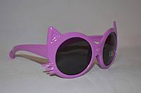 Солнцезащитные очки детские кошка фиолетовый, фото 1