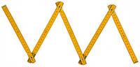 Метр складной деревянный 1 м, код 715-300
