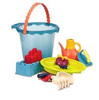 Набор для игры с песком и водой Мега-ведерце Море (9 предметов) Battat