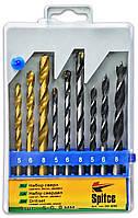 Набор сверл (металл, бетон, дерево), 9 шт. 3 шт. х 5, 6, 8 мм, код 720-930