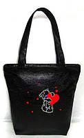 """Женская сумка - """"Мишка"""" Б222 - черная, фото 1"""