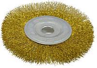 Щетка-крацовка дисковая, латунная 200х22, 2 мм, код 718-057