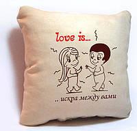 """Подарочная подушка """"Love is..."""""""