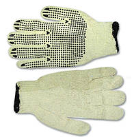 Перчатки вязанные с вкраплением с двусторонним вкраплением, белые, L, код 716-004 , фото 1