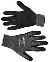 Перчатки, тонкая двойная вязка, мягкий вспененный латекс L-XL, код 716-233