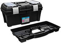 """Ящик для инструментов пластмассовый, металлическая застежка 15, 5"""", 390х185х170 мм, код 752-556"""
