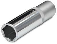 Головка шестигранная торцевая, 1/2'', Cr-V 75х30 мм, код 750-224
