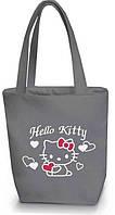 "Женская сумка - ""Hello Kitty с сердечками"" Б02 - серая, фото 1"