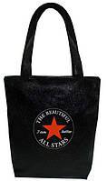 """Женская сумка - """"Звезда"""" Б113 - черная, фото 1"""