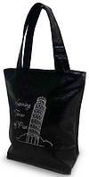 """Женская сумка - """"Пизанская башня"""" Б64 - черная, фото 1"""