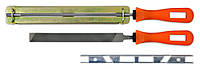 Набор для заточки ленточных пил 2 напильника, 2 направляющие, код 742-325