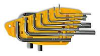 Набор ключей имбусовых, Cr-V 10 шт. (1, 5–10 мм), код 749-110