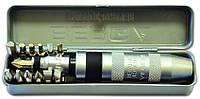 Отвертка ударная, Cr- V 13 насадок, в металлическом футляре, код 747-411 , фото 1