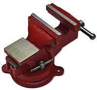 Тиски слесарные поворотные 125 мм, 7, 5 кг, черные, код 742-841