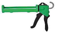 Пистолет для герметика полуоткрытый пластмассовый, код 712-018