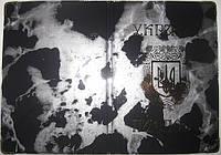 Обложка на паспорт Украины «Мрамор» цвет чёрный