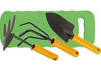Набор садовый, защитное покрытие, пластиковая рукоятка, рыхлитель, мотыжка, совок, коврик Palisad 62