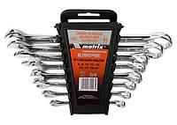 Набор ключей комбинированных 8-17 мм, 6 шт, CrV, полированный хром Matrix 15416