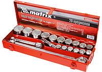 Набор торцевых головок, 1/2, головки 10x2 предметов Matrix Master 13536