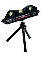 Уровень лазерный 170x50 мм, три глазка Matrix 35020