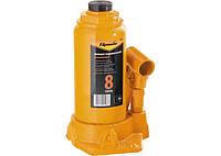 Домкрат гидравлический бутылочный, 8 т, h подъема 200-385 мм// SPARTA 50324